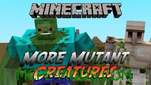 Мод More Mutant Creatures на Майнкрафт 0.15.0 / 0.15.1 / 0.15.2 / 0.15.3 скачать бесплатно