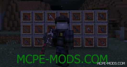 Аддон Black Ops 3 Weapons Mod на Майнкрафт 0.15.0 / 0.15.1 / 0.15.2 / 0.15.3 / 0.15.4 скачать бесплатно