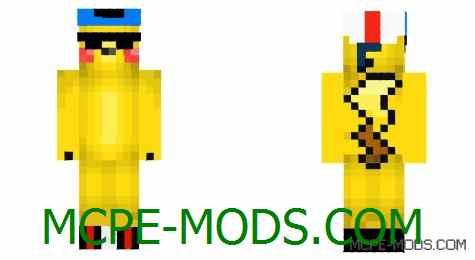 Скачать скин Thuglife Pikachu на Майнкрафт 0.14.0 / 0.14.1 / 0.14.2 / 0.14.3