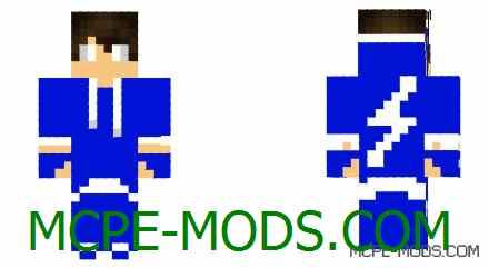 Скачать скин Flash Hood на Майнкрафт 0.14.3, 0.14.2, 0.14.1, 0.14.0