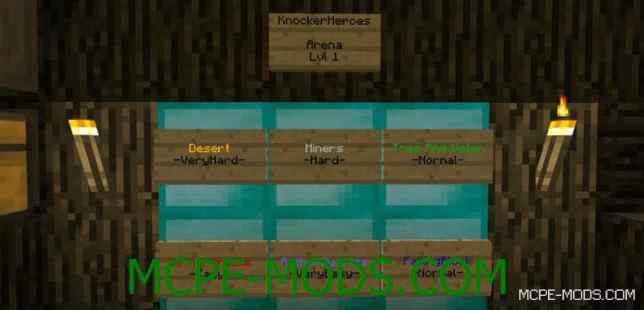 Мод-карта Knocker Heroes для Майнкрафт 0.16.0