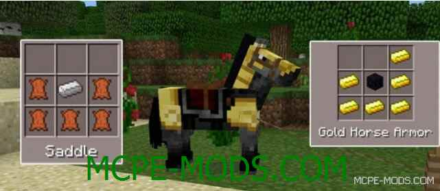 Мод Craftable Saddle & Horse Armors 0.15.9, 0.15.7, 0.15.6, 0.15.4