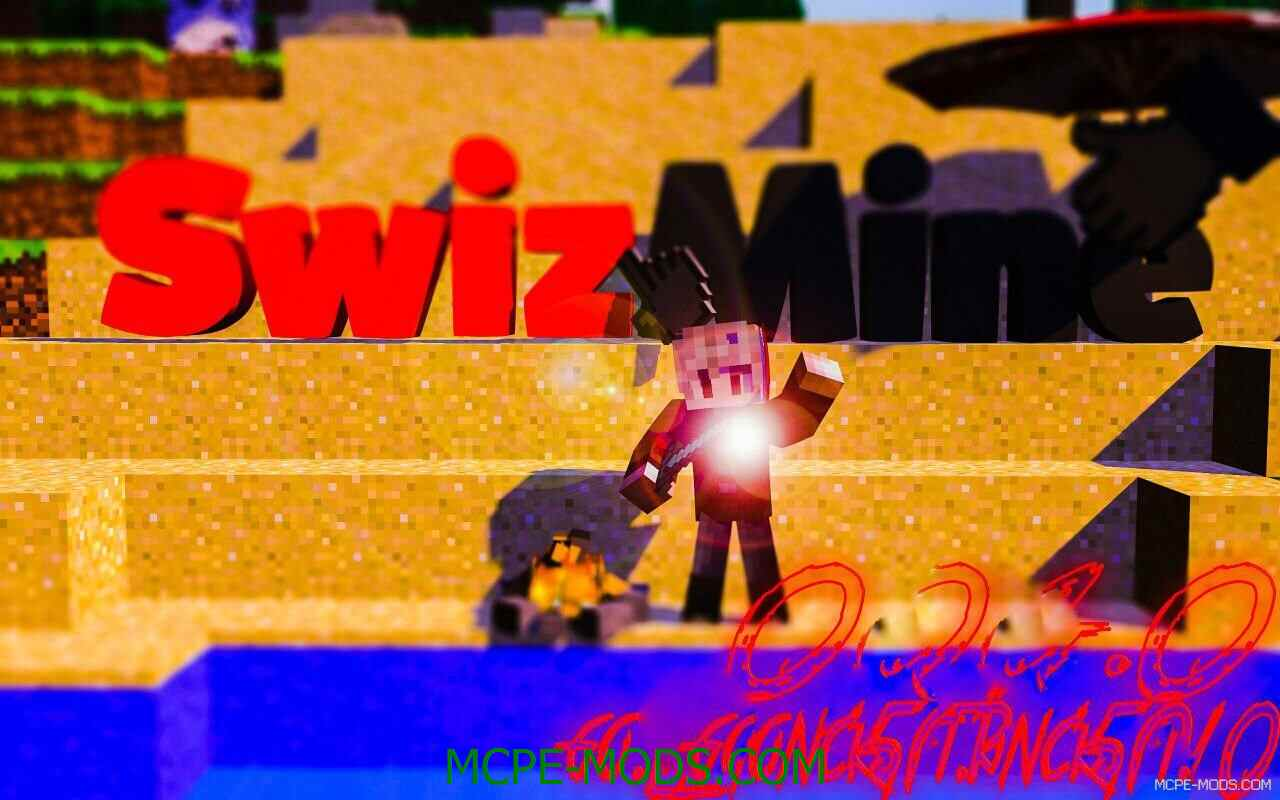 Сервер SwizMine на Майнкрафт 0.15.9, 0.15.7, 0.15.6, 0.15.4 на Андроид