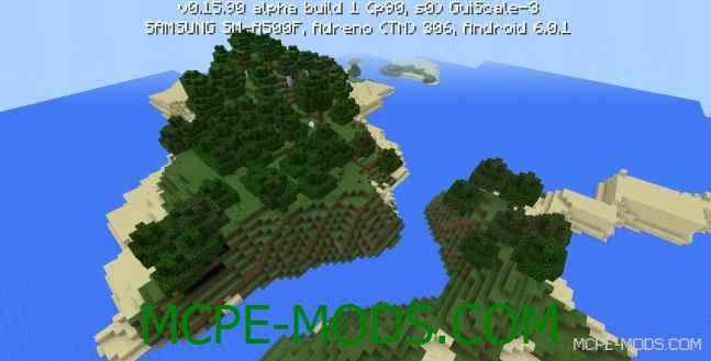 Сид деревня с лесом на Minecraft PE 0.16.0