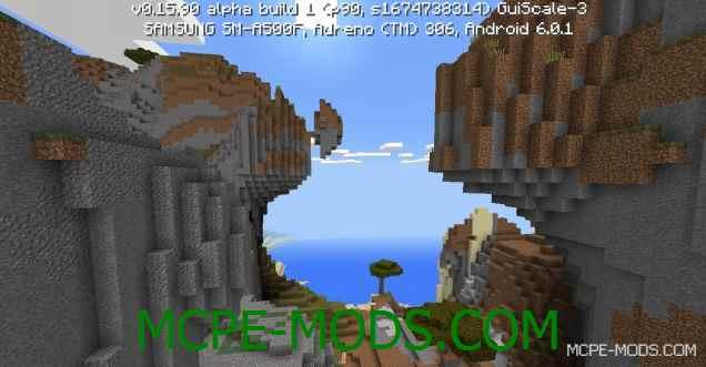 Сид красивые и очень крутые горы на Minecraft PE 0.16.0
