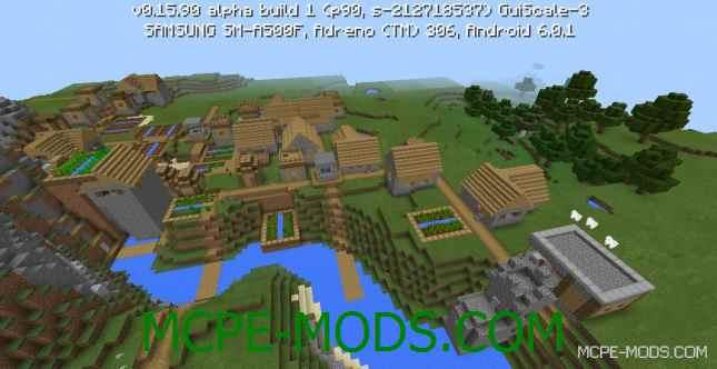 Сид двойная деревня с кузницей на Minecraft PE 0.16.0