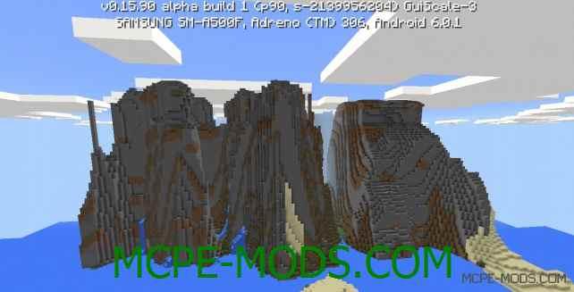Сид Экстремально крутые горы на Minecraft PE 0.16.0