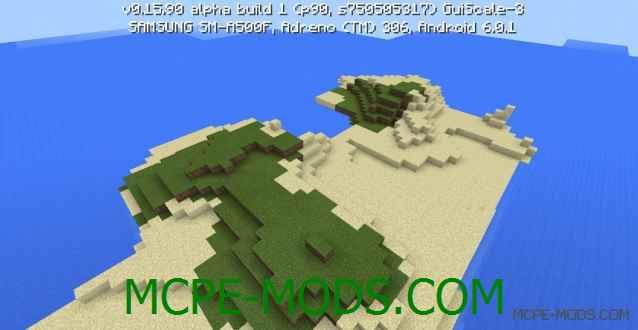 Сид Два острова для выживания на Minecraft PE 0.16.0