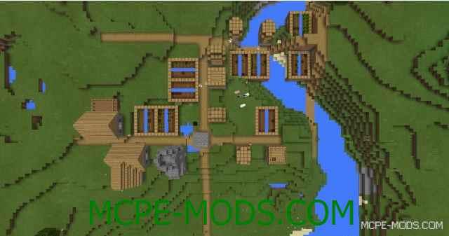 Сид Три деревни из дерева на Minecraft PE 0.16.0