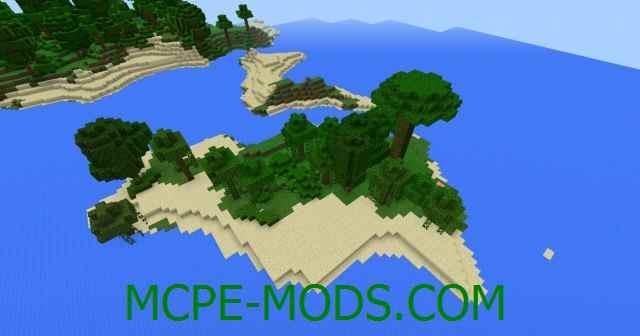 Сид Острова из джунглей на Minecraft PE 0.16.0