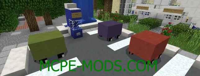 Скачать мод Mine-Car для Minecraft PE 0.16.0 бесплатно на Андроид