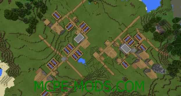 Сид Две деревни с кузницами на Minecraft PE 0.16.0, 0.16.1