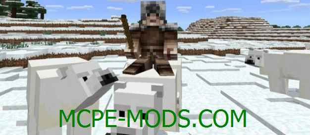 Скачать мод Polar Bear для Minecraft PE 0.16.0, 0.16.1 бесплатно на Андроид