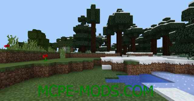 Сид Деревня в снегу на Minecraft PE 0.16.0, 0.16.1