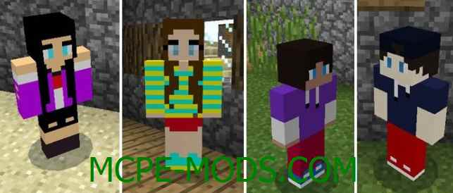 Скачать мод Humanoid Villagers для Minecraft PE 0.16.0, 0.16.1 бесплатно на Андроид