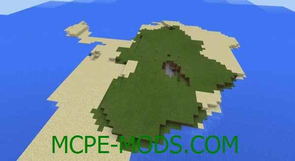 Сид Два острова с деревней на Minecraft PE 0.16.0, 0.16.1