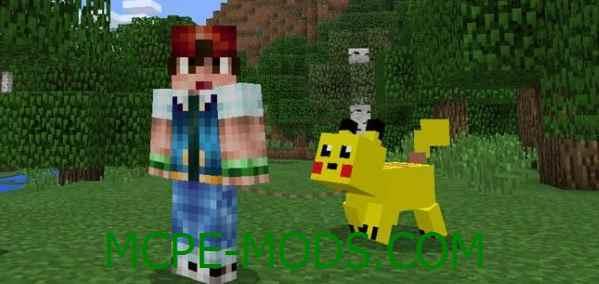Скачать мод Pikachu Pig для Minecraft PE 0.16.0, 0.16.1 бесплатно на Андроид