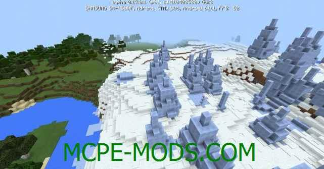 Сид Деревня и иглу в снежном биоме на Minecraft PE 0.16.0, 0.16.1
