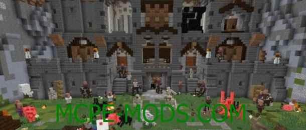 Скачать карту Castle Siege для Майнкрафт 0.16.0, 0.16.1 на Андроид