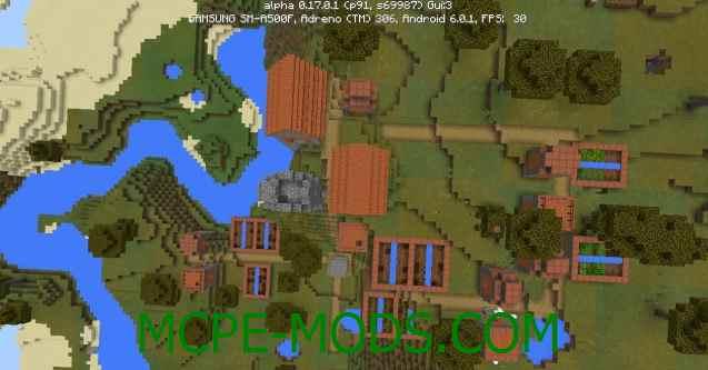 Сид Деревня из красного дерева на Minecraft PE 0.17.0, 0.17.1