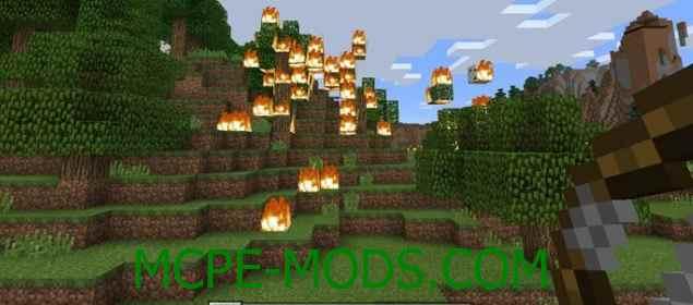 Скачать мод Fire Arrows для Minecraft PE 0.16.0, 0.16.1 бесплатно на Андроид