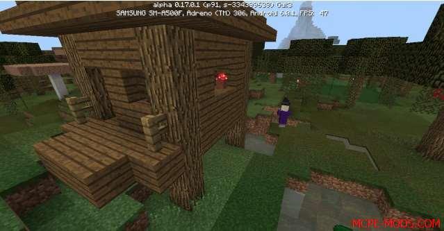 Сид Деревня и домик ведьмы на Minecraft PE 0.17.0, 0.17.1
