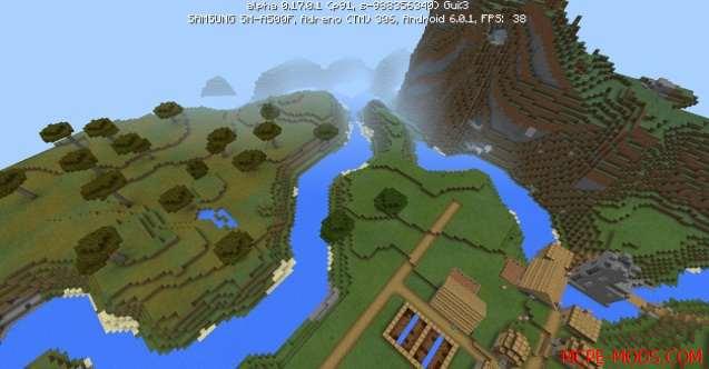 Сид Деревня возле реки на Minecraft PE 0.17.0, 0.17.1