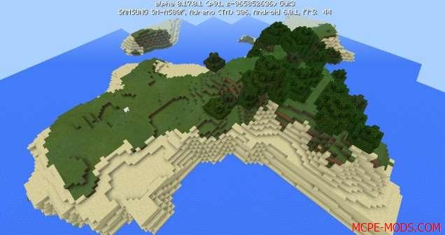 Сид Два небольших острова для выживания на Minecraft PE 0.17.0, 0.17.1