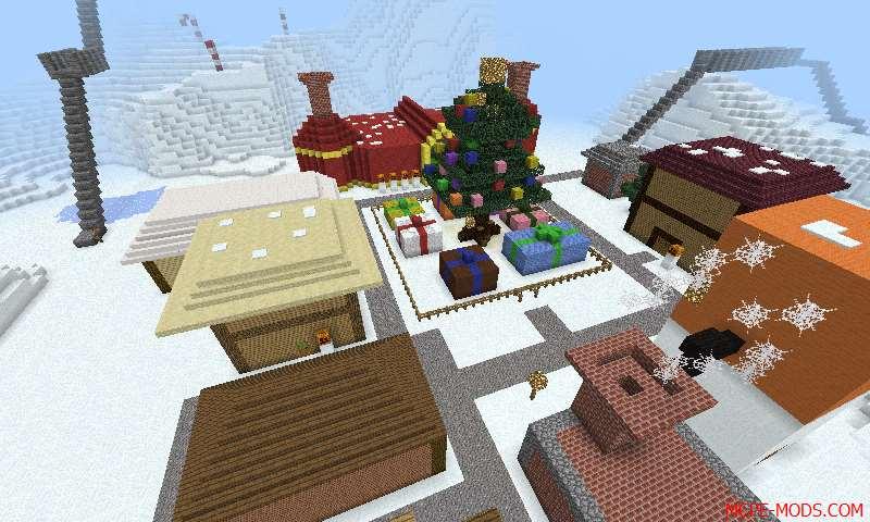 Скачать новогодние и рождественские карты для Майнкрафт на прохождение на русском языке