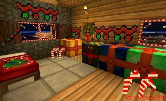 Скачать Новогодний и Рождественский текстур пак на Майнкрафт ПЕ
