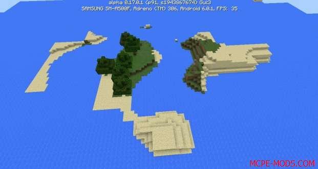 Сид Острова для выживания на Minecraft PE 0.17.0, 0.17.1