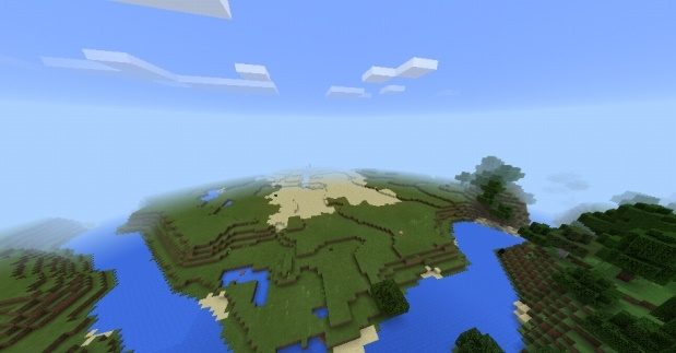 Сид Тройная деревня в четырёх разных биомах 1.0, 0.17.0, 0.17.1