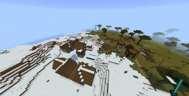 Сид Деревня из красного дерева в снежном биоме  1.0, 0.17.0, 0.17.1