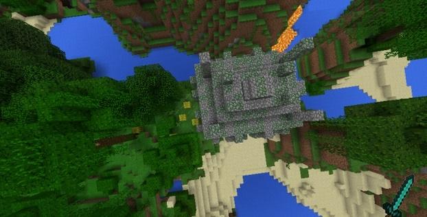 Сид Спавн на крыше храма посреди джунглей 1.0.4, 1.0.3, 1.0.0