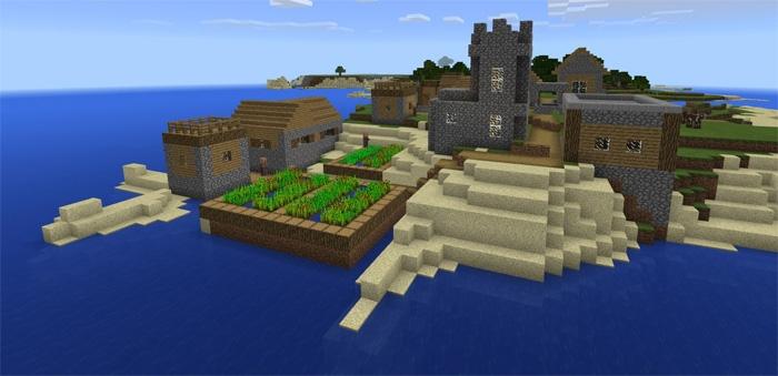Сид на побережье с деревней 1.0.5, 1.0.4, 1.0.3, 1.0.0