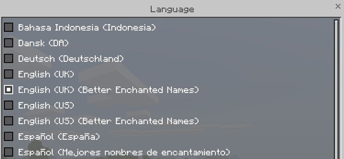 Текстуры Better Enchantment Names 1.2.13