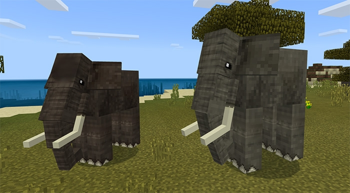 Мод Elephants and Mammoths (только для 1.8.0)