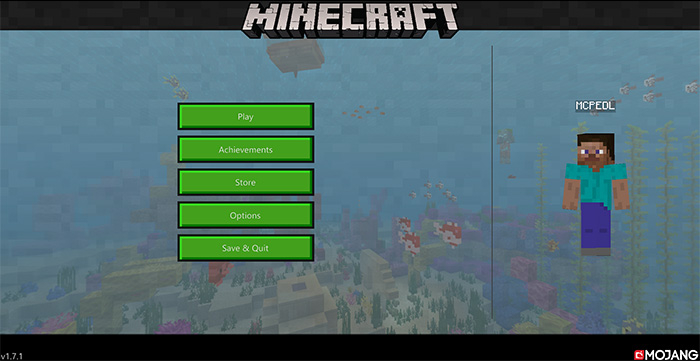 Текстуры New Minecraft UI (Hawf Human) 1.7.0