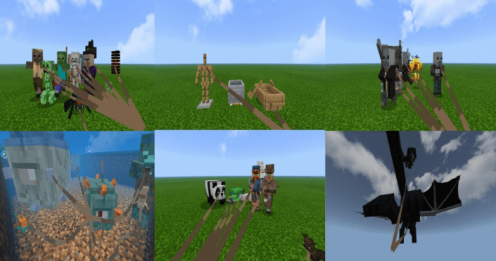 Мод LEASH ALL MOBS 1.15